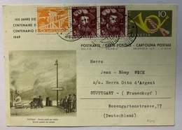 8654 -  Centenaire Des Postes Service Postal Par Bateau Circulé Pour L'Allemagne - Entiers Postaux