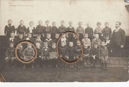 """Ville D'Ath """" école Pour Garcons - 1906 - 7e Classe - Carte Photo Tres Rare - Ath"""