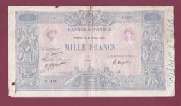 100619A - BILLET Mille Francs Banque De France 4 Juillet 1925 C1971 712 - 1 000 F 1889-1926 ''Bleu Et Rose''