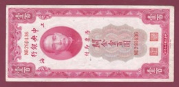 100619A - BILLET ASIE CHINE The Central Bank Of China 100 Shanghai 1930 One Hundred Customs Gold Units NB260436 - Chine
