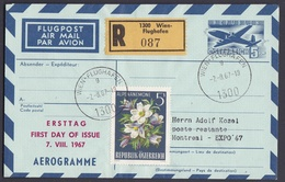 Wib_ Österreich - Aerogramme Mi.Nr. LF  13 - Gestempelt Used - FDC Ersttag - Stamped Stationery