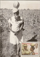 Botswana & Postal, Gatleng Harvest, Thobo With Mozambique Stamp 1979 (8) - Botswana