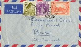 BURMA , SOBRE CIRCULADO , RANGOON - BASILEA , CORREO AÉREO - Myanmar (Burma 1948-...)
