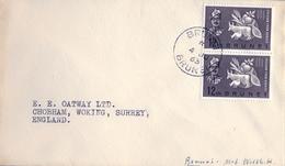 1963 BRUNEI , SOBRE CIRCULADO A SURREY , FR. FREEDOM FROM HUNGER - Brunei (1984-...)