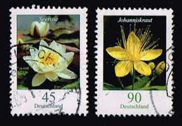 Bund 2017, Michel# 3303 3304 O Blumen: Seerose/ Jahanniskraut - [7] République Fédérale