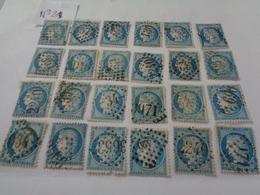 Lot N°21 De 24  Timbres Type Cérés III République ,n°60A , Oblitérés ,charniéres - 1871-1875 Cérès
