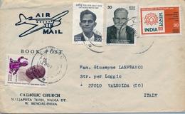 1979 INDIA , SOBRE CIRCULADO , W. BEGAL - VALSOLDA , LLEGADA AL DORSO, CORREO AÉREO - India