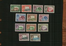 DOMINICA – KGVI – 1938 - DEFINITIVES - MM - 12 Stamps - Dominica (...-1978)