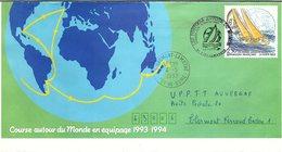 FRANCE- ENVELOPPE ENTIER POSTAL 2.50  - CACHET 1er JOUR POSTIERS AUTOUR DU MONDE 6.2.93 PORT CAMARGUE 30 / 1 - Standaardomslagen En TSC (Voor 1995)