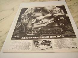 ANCIENNE PUBLICITE MELEZ VOUS AUX GRANDS SONY 1975 - Musik & Instrumente