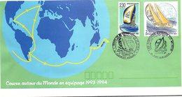 FRANCE- LETTRE ENTIER POSTAL 2.50 + COMPL. 2.30 - CACHET DEPART 25.9.1993 CLERMONT FD - POSTIERS AUTOUR DU MONDE   / 1 - Standaardomslagen En TSC (Voor 1995)