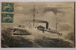 Cpa Pampa Par Grosse Mer Dans Le Golfe Du Lion - TOR08 - Steamers