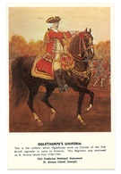 Colonel Oglethorpe's Uniform British Regiment Fort Frederica St Simons Island Georgia Postcard - Uniforms