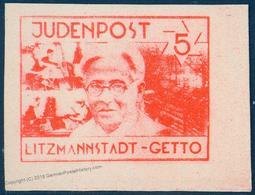 Germany Poland Litzmannstadt Judenpost Jewish Ghetto Stamp Expertized 2x U 91765 - Stamps