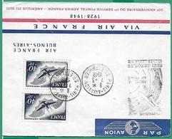 ! - France - YT PA 23 X 2 Sur Lettre - 20è Anniversaire 1er Service Postal Aérien France-Amérique Du Sud - Poste Aérienne