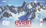 Télécarte Japon Boisson Eau Minérale (2) EVIAN * Water * France Related Japan Phonecard * - Lebensmittel
