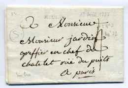 MEULAN - Lenain N°2 / Dept 72 Seine Et Oise / 1777 / Cachet De Cire Complet Au Verso - 1701-1800: Précurseurs XVIII