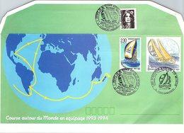 FRANCE- LETTRE ENTIER POSTAL 2.50+ COMPL.- POSTIERS AUTOUR DU MONDE - CACHET DEPART WHITBREAD CLERMONT FD 25.9.93 / 2 - Biglietto Postale