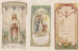 9AL1410 IMAGE PIEUSE RELIGIEUSE Lot De 3 COMMUNION VERS 1910  2 Scans - Devotion Images
