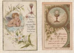 9AL1411 IMAGE PIEUSE RELIGIEUSE Lot De 2  VERS 1900  2 Scans - Andachtsbilder