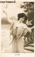 SERIE COMPLETE DE 4 CPA : LES 4 MOMENT DE LA JOURNEE ART NOUVEAU FEMME WOMAN ILLUSTRATEUR - 1900-1949
