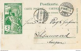 163 - 7 - Entier Postal UPU Avec Cachets à Date Wintethur Et Schönenwerd 1900 - Entiers Postaux
