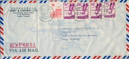 1970 TAIWAN , SOBRE CIRCULADO ENTRE TAIPEI Y LEVERKUSEN , LLEGADA AL DORSO - 1945-... República De China