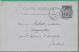 ! - France - YT ... - Cachet Du 27/05/1884 - Envoi Vers Avignon - Postal Stamped Stationery