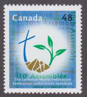 CANADA, 2003, # 1992, LUTHERAN WORLD FEDERATION TENTH ASSEMBLY: LOGO, Cross, Land & Plant,  MNH - Neufs