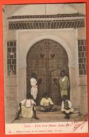 TSH-35 Tunis Porte D'une Maison Arabe.  ANIME. Circulé En 1904 Vers La Suisse - Tunisia