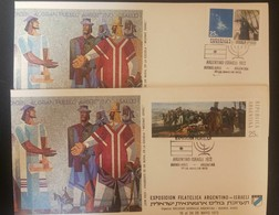 O) 1972 ARGENTINA, GUEMES IN BATTLE BY LORENZO GIGLI SCT 962 -EXHIBITION FILATÉLICA ARGENTINO ISRAELÍ 1972, ASTRONOMY - - FDC