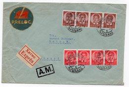 1938 YUGOSLAVIA, SLOVENIA, LJUBLJANA TO GOTHA, GERMANY, LITTLE PETAR, EXPRESS MAIL,COMPANY COVER, PRELOG - Covers & Documents