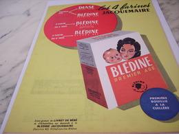 ANCIENNE PUBLICITE BLEDINE PREMIER AGE 1958 - Publicités