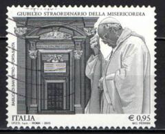 ITALIA - 2015 - GIUBILEO STRAORDINARIO DELLA MISERICORDIA - BASILICA DI SAN PIETRO - PORTA SANTA - USATO - 2011-...: Afgestempeld