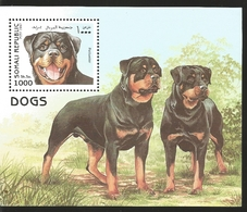 V) 1997 SOMALIA, DOGS, DOG ROTTWEILER, SOUVENIR SHEET, MNH - Somalia (1960-...)