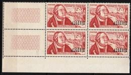 Année 1956-N°333 Neuf**MNH : Journée Du Timbre (François De Tassis) : Bloc De 4 - Algeria (1924-1962)