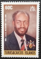 Turks & Caicos Islands  1996   1st Chief Minister - Turks & Caicos