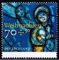 Bund 2018, Michel# 3418 O Weihnachten. Kirchenfenster - BRD