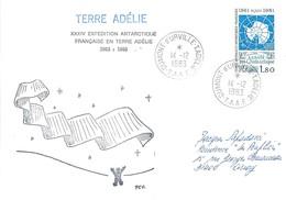 TAAF - Dumont D'Urville-T.Adélie: Lettre Avec Timbre N°91 Traité Sur L'Antarctique - 14/12/1983 - French Southern And Antarctic Territories (TAAF)