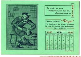 Buvard 1953 Chaussures BALLY - Magasin Rigal Boulevard De L'Yser Charleroi - 2 Scans - Scarpe