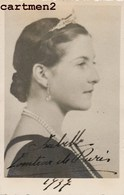 CARTE PHOTO : LA COMPTESSE DE PARIS EN 1937 FAMILLE ROYALE - Case Reali