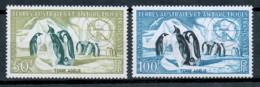 Französische Gebiete In Der Antarktis - TAAF Freimarken 1956 Yvert PA 1 Und 2 Pinguine Postfrisch MNH - Neufs