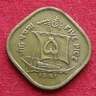 Pakistan 5 Pice 1961 KM# 18 *V2 Paquistao - Pakistan