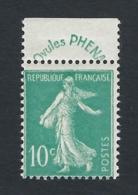 FRANCE 1924 SEMEUSE PHENA Nº 188 - 1906-38 Säerin, Untergrund Glatt