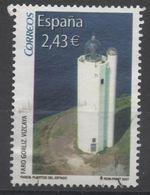 ESPAGNE SPANIEN SPAIN ESPAÑA 2007 FROM M/S LIGHTHOUSES FAROS USED ED 4348F YV 3958 MI 4253 SG 4292 SC 3518F - 2001-10 Used