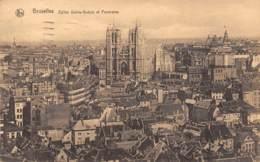 BRUXELLES - Eglise Sainte-Gudule Et Panorama - Panoramische Zichten, Meerdere Zichten