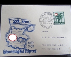 (art 3025) Geburtstag Des Fuhrers 1938 Karte + Sst - Germany
