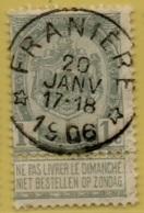 +MW-3832    *  FRANIERE *   OCB 53        Sterstempel     COBA   +8 - 1893-1907 Wapenschild