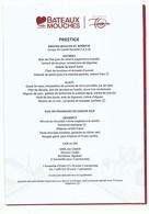 Menu Bateaux Mouches De Paris - 70 Ans - Menus