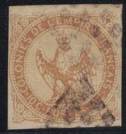 COLONIES GENERALE- AIGLE - N°3 10c BISTRE - OBLITERE. - Águila Imperial